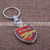 Hot Wholesale Alloy Individuality Creative Shield Football Club Symbol Keyring For Football Lovers