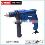 G-max Power Tools 500W Mini Electric Impact Drill GT12302