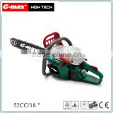 G-max 45CC/52CC 18''/20'' Gasoline Chain Saw Wood Cutting Machine GHT-GS45
