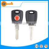 hot selling abs transponder key blank with red logo and uncut blade for fiat palio stilo double