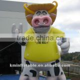 Giant inflatable bull with straw hat