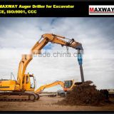 New Product ~ Mini excavator attachment hydraulic earth auger , CE / ISO