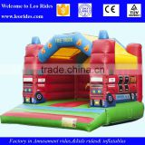 PVC tarpaulin material game toys small inflatable bungee trampoline