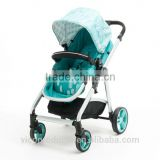 Reversible seat and Suspension air wheels deluxe Baby Stroller 2 in 1