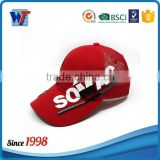 6 panel red mesh and cotton trucker hat bottle opener baseball cap