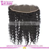 High quality natural color brazilian lace frontal closure 13x4 with baby hair deep wave from ear to ear lace frontal