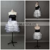 Sweetheart Necklline Custom Made Short Mini Designs Evening Party Wear ED083 black and white cocktail dress