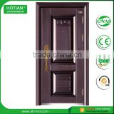 China Factory Lowes French Steel Doors Exterior Wrought Iron Security Doors Metal Door for Apartment