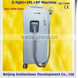 Pigmented Spot Removal Www.golden-laser.org/2013 New Style 10MHz E-light+IPL+RF Machine Personal Beuty Device Improve Flexibility