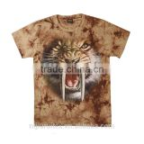 Men Tie Dye T-shirt, animal printing T-shirt,digital print t-shirt or silk screen printing t-shirt