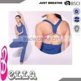 ladies high quality custom gym stringer vest, brazilian yoga pants, yoga apparel