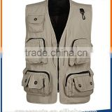 Guangzhou clothing factory custom prinitng or embroidery logo mens multi pocket mesh safety vest