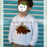 baby boy tshirt printing machine white dinosau embroidery long slevees top hip hop tshirt