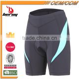 BEROY Women's 3D Gel Padded Bike Shorts, Custom and Wholesale Cycling Shorts