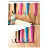 ABS Plastic flocked over door hook colorful