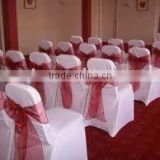 Cape sash for chair cover polyester organza chair sash banquet chair cover with organza sash