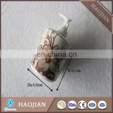 Ceramic products white sublimation Soap Dispenser with white plastic water pump