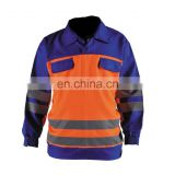 Hi-Vis orange mechanic winter waterproof coveralls work wear Reflective Safety Coveralls