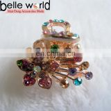Flower Rhinestone Alloy Min Hair Claw Clips for Wedding