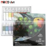 18 x 12ml Coloured Box Phoenix Oil Paint Set