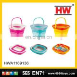 5L cheap plastic small folding beach bucket