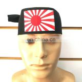 JAPANESE RISING SUN HACHIMAKI HEADBAND BLACK COLOR