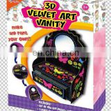 velvet art box/craft box/flocking toy