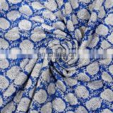 Indian Handmade Hand Block Print 100% Cotton Natural Sanganeri Print