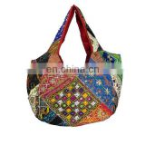 Banjara Gypsy Embroidered Boho Vintage Mirrored Patchwork Handmade Indian Hippie Hobo Coins Cowrie Women Sac Purse Tote Hand bag