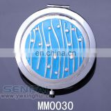 Double sided compact cosmetic pocket mirror