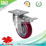 4 inch Middle Duty Plastic(TPU) Caster Wheel with Brake Industrial Caster
