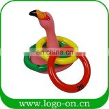 Inflatable Toys Flamingo Ring Toss Game Summer Party Beach Pool Kids Water Game