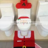 Warm-life Santa Toilet Seat Cover and Rug Set 3 Pchristmas Bathroom Toilet Cover and Rug Set