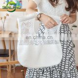 Wholesale Canvas Mesh hollow shopping bag Beach Tote Bag Handbag For Ladies