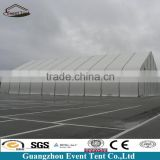 Low price transparent PVC coated polyester curve power station tent hall for family tent