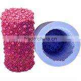 FOB Zibo handmade silicone rubber candle model with small ball on it surface molds LZ0082 in stock