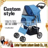 high quality portable professional design luxury pet stroller 4 wheels