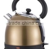 1.8L Metallic spray colour Electric kettle with boil dry protection and 360 degree rotation for home use
