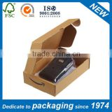 white or nature brown corrugated cardboard made mailer box with custom flexo or offset printing