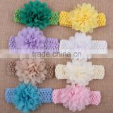 Handmade Hot Sell Hair Accessories Kids Chiffon Flower Headband