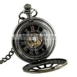 WP116-ESS Men Antique Skeleton Mechanical Pocket Watch Mens Chain Watch