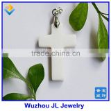 Cabochon Cross Natural Mother of Pearl Shell MOP Cross Pendant/mother-of-pearl cross pendant