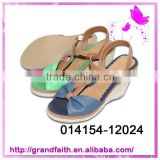 2014 New design low price Ladies Pu Sandals