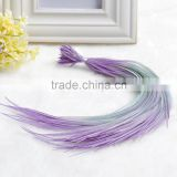 Alibbaba Cheap Colored Real Rooster Feahter Hair Extension, Grizzly Feather Hair Extension