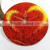 UV Oil 4C Printing Heart Decorative Acrylic Wall Clock