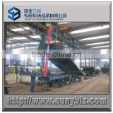 Self hydraulic lifting unloading container flat bed semi trailer / skeleton container trailer