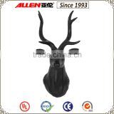 "13"" black home decoration deer head with long horn, deer sculpture for wall"