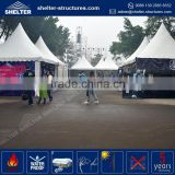 Cheapest price 850g/sqm PVC fabric coated roof cover flea gazebo garden line gazebo tent pavilion