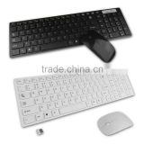 2.4g bianco pc wireless keyboard + mouse keypad film kit set per desktop pc laptop spedizione gratuita