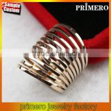 Multilayer High Quality Spikes 18K Gold Spring Ring Fashion 316L stainless steel Wedding Jewelry